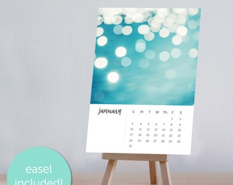 2017 calendar desk calendar with stand photography calendar with easel abstract art calendar bokeh calendar nautical calendar nautical decor
