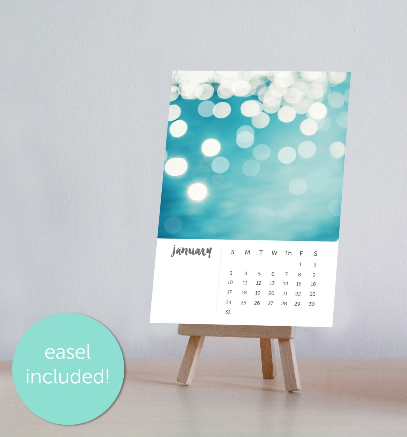 Handmade Table Calendar Designs : Calendar desk with stand photography