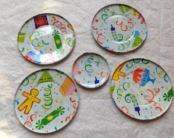 5 Piece Metal Birthday Toy Dishes