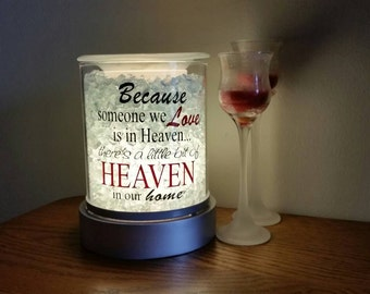 Because Someone We Love is in Heaven Decal for Candle Warmer in 2-Color Option (Decal Only)