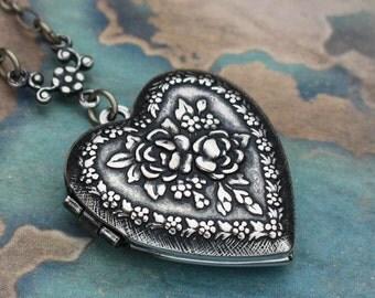 Heart Locket Necklace, Heart Shaped Lockets, Small Heart Necklace, Forever in My Heart Necklace, Heart Shaped Locket Necklace, Heart Locket