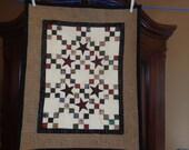 Scrappy Plaid Nine Patch Quilt, Plaid Little Quilt 0429-03
