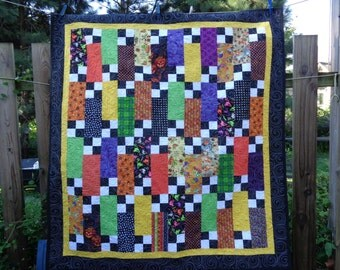 Halloween TV quilt, Lap quilt, Halloween quilt 0805-03