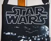 Star Wars  recycled t shirt tote bag or crossbody  purse from OOAK Unique gift adjustable strap