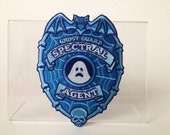 Ghost Guard: Spectral Agent embroidered patch - glow-in-the-dark