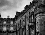 Irish Castle, Architecture Art, Castle Photograph, Kilkenny Castle Photo, Travel Art, Medieval Castle Photo, Dark Landscape, Castle Print