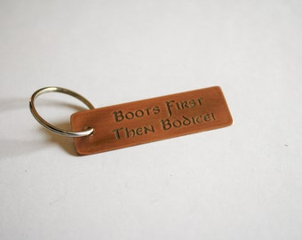 Copper Key Chain - Boots First Then Bodice