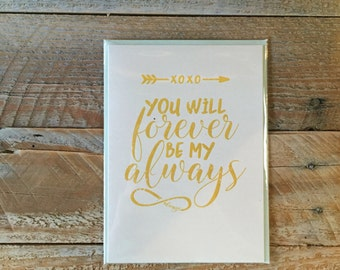 Forever  Always - Greeting Card - Love  Wedding  Marriage  Anniversary - Infinity