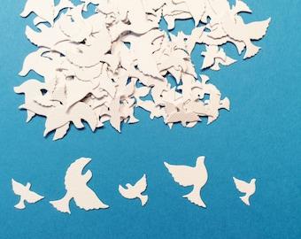 "100 Doves, Confetti, 60 Tiny, 40 ittle Bigger, White, 1/2"", 3/4"", 1"", 1 1/4"", Weddings, Showers"
