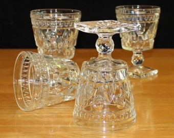 Vintage, Set of 4, Colony Glass, Park Lane, Water Goblets