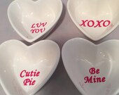 Valentine Ring Dishes conversation Heart Ring Dish valentine gift Choose Your Phrase