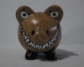 Piggy Bank, Dinosaur Piggy bank, Personalized, T-Rex Dinosaur Piggy Bank - MADE TO ORDER