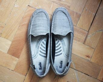 SALE - Vintage Gray Keds Slip On Shoes, Womens Size 8