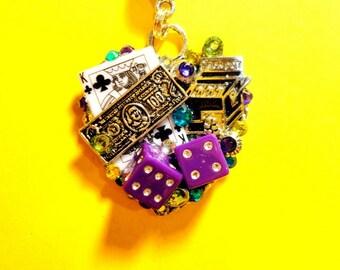 Love To Gamble Heart Pendant