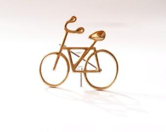 Brass Bicycle Pin