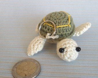 crochet coin holder, coin cozy, Sea turtel coin holder, Crochet sea turtle crochet amigurumi , Sea turtle coin holder, Ocean Key Chain