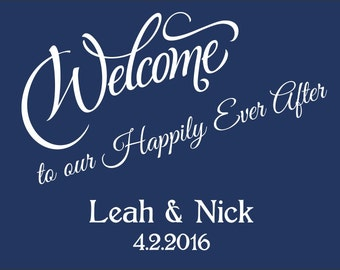 "100 4"" x 3"" Wedding Welcome Bag/Box Labels - Elegant Wedding Stickers"