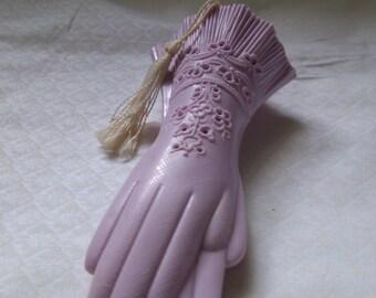 Old Lavender Gloves Sachet Holder for Closet or Drawer