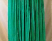 "BIG SUMMER SALE 80s Vintage Cotton Gauze-Resort Cruise Beach Sundress-Amerikan Climax-44"" Bust-Large-Size 12-Boho-Hipster-Casual-Maxi Dress"