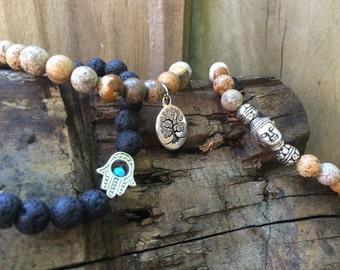ΔΔΔ Buddha, Tree of Life & HAMSA Bracelet Set ΔΔΔ
