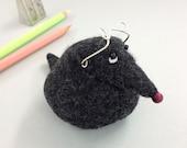 Handmade Wool Felt Soft Sculpture Paperweight Mr Mole