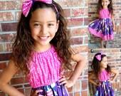 Girls BARBIE Dress, Girls Dress, Barbie Dress, Pink Purple Barbie, Barbie Matilda Dress -  2T - 8