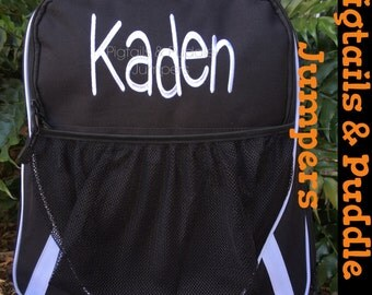 Athletic Sports Backpack - Monogrammed Backpack- Personalized Backpack-13 Colors FREE Personalization Soccer-Basketball- Volleyball-Dance