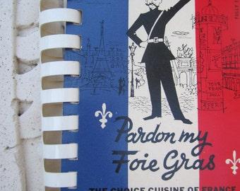 Pardon My Foie Gras 50s Cook book Spiral bound with original box small french recipe book
