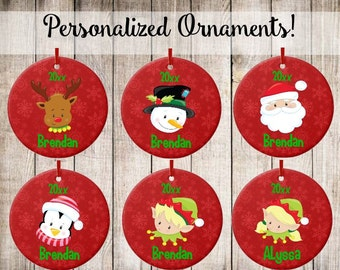 Personalized Ornament Kids Christmas Ornament