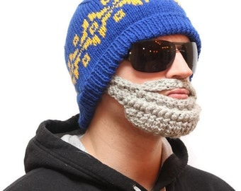 Beard beanie - Beard Hat, beard head, beard winter, beardhead, hats with beards, knitted beard, crochet beard hat, beanie with beard, beard
