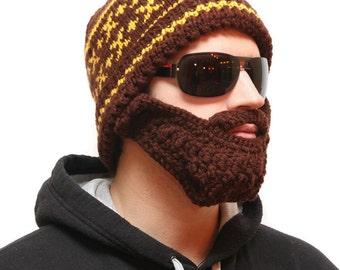 Hat and Beard - Hats with beards, Beard beanie, Beard Hat, beard head, beardhead, knitted beard, beanie beard, beard cap, beard warmer