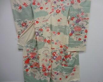 100% silk New kimono Karinui