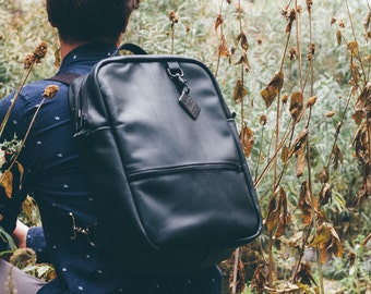 Black Leather Day Pack