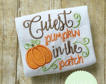 Cutest Pumpkin in the Patch Bodysuit or Shirt - Pumpkin Shirt - Autumn Shirt - Pumpkin Patch - Halloween Shirt - Fall Outfit