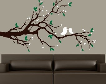Branch wall decal, wall decor home, home decals, branch wall decals, decal branches, bird decals