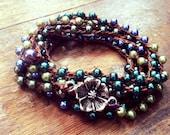 Growing Vines : Versatile crocheted necklace / bracelet / belt / headband