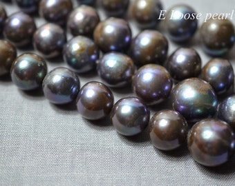 DLY Round Nucleated pearl 13-18mm Large hole pearl Edison Pearl Freshwater Pearl Loose Bead Necklace pearl Full strand Item No: PL4287