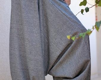 Winter harem pants, Women Tweed pants, Pregnancy Maternity Wear, Plus size Women's harem pants, warm Drop Crotch pants, Afghani , haremshose