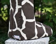 MADE TO ORDER Animal Print Boot Bag Many Prints