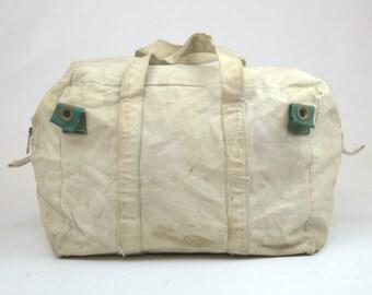 60s Canvas Tool Bag Work Wear Carpenter Field Tote Duffle Bag