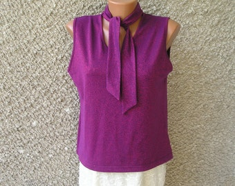 Vintage LUREX knit top, size L