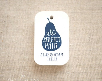 The Perfect Pair Thank You Gift Tags - Wedding Favor Tags - Thank you tags - Hang tags - Wedding Gift Tags - Set of 24 (Item code: J513)