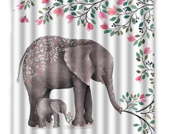 Elephant Shower Curtain, bathroom decor, elephant shower, elephant bathroom, elephant decor
