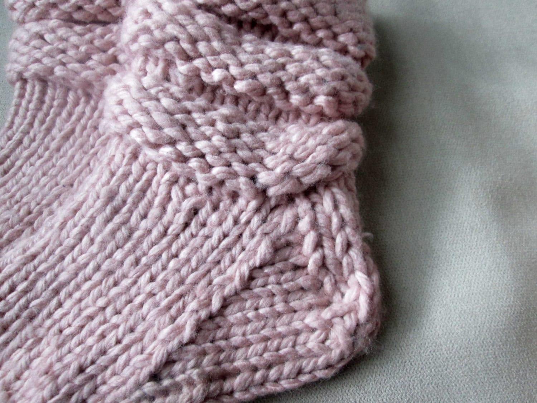 Slipper Socks Knitting Pattern Pattern for Chunky Knit