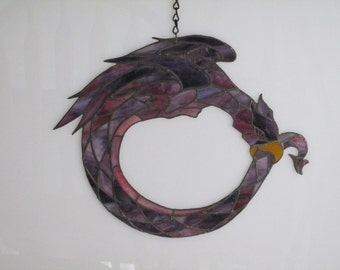 Stained Glass Dragon Tail Suncatcher