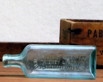 Antique Dr. Kilmer's Swamp Root Kidney Liver and Bladder Cure Glass Bottle - Aqua