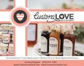 70 custom labels--brown color