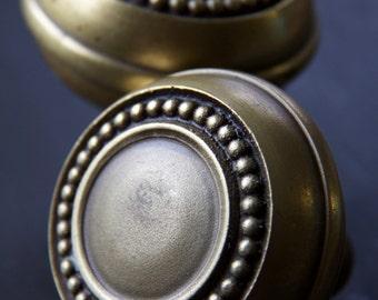 Beautiful Vintage Calvi Beaded Doorknob Set of 2 c. 1910