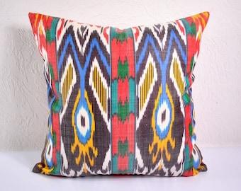 Ikat Pillow, Ikat Pillow Cover,  spi494, Ikat throw pillows, Designer pillows, Decorative pillows, Accent pillows