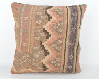 Wool Pillow, Kilim Pillow, KP1020,  Decorative Pillows, Designer Pillows,  Bohemian Decor, Bohemian Pillow, Accent Pillows, Throw Pillows